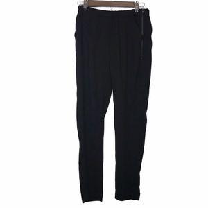 Parker Side Zip Black Elastic Waist NWT Pant Small